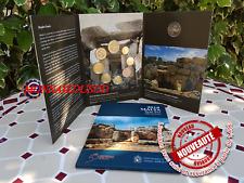 Coffret BU Malte 2018 + 2 Euro CC Temple avec Poinçon F