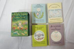 VINTAGE BUNNY'S NUTSHELL LIBRARY ROBERT KRAUS 1965 4 BOOK BOXED SET HC DJ