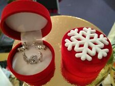 Christmas Nativity Scene Miniature in a Gift Box Silver Metal