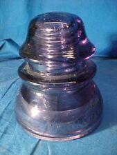 Vintage WHITHALL + TATUM Dark PURPLE GLASS INSULATOR Clean
