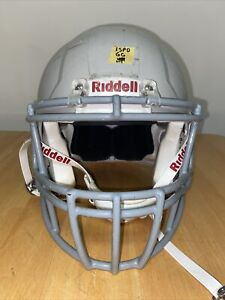 Riddell Speed Adult Large Football Helmet (Gray W/ Gray Face Mask)