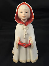 "1973 CYBIS LITTLE RED RIDING HOOD 6.5"" CHILDREN TO CHERISH PORCELAIN MINT COND"