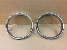 Vintage BMW E10 1600 2002tii 2002 Round Rear L & R Taillights Chrome rings OEM
