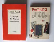MARCEL PAGNOL LE TEMPS DES AMOURS & DES SECRETS / LOT 2 ROMANS