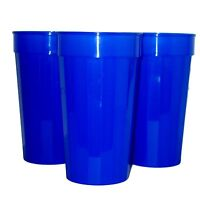 6 Large 32 Ounce Blue Fluted Tumblers Made in America Lead Free No Bpa