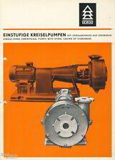 Steinzeugwerk Krauschwitz Prospekt Kreiselpumpen Steinzeug Pumpen DDR 1970