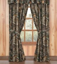 "Realtree Xtra AP Lined Curtains Drapes 42"" x 84"" Camo Rustic Cabin Hunting Bed"