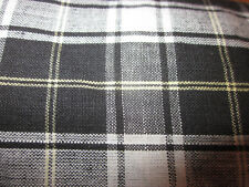 Black & White Plaid Aromatherapy Flax Seed Herb Sinus Pillow hot or cold use
