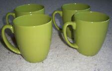 4 Corelle Neo Leaf Green Coffee Mugs Pea Green or Lime Green
