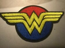 """Wonder Woman Iron On Patch 4"""" x 2.25� Comic Book Superhero Embroidered Applique"""