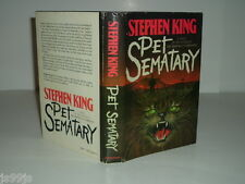 PET SEMATARY By STEPHEN KING 1983 First Edition stated