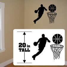 Basketball Silhouettes boys girls room decal, room decal ,fathead style stickers