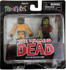 THE WALKING DEAD Series Three Minimates DEXTER and DREADLOCK ZOMBIE NEW