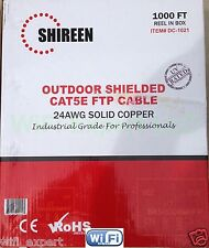 1000 FEET of Shireen DC-1021 CAT5e Outdoor Shielded Cable 1000FT Spool HIGH QUAL