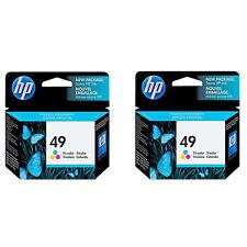 2 Pack Genuine HP 49 Color HP49 ink Cartridge For Deskjet 672 682 690