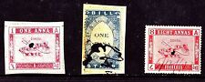 3  All Different GONDAL Stamps  (INDIAN STATE)