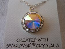 Swarovski Elements Crystal in AB Color with Rhinestones  Necklace  Pendant