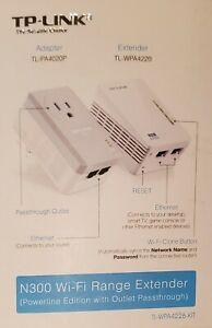 TP-LINK N300 Range 2-Port Powerline WiFi Extender Kit TL - WPA4226 KIT (R1)