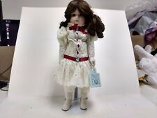 A Dynasty Doll Aubrey Porcelain With Stand Vintage Gorgeous Red White ds234