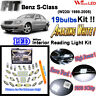 19 pcs Xenon White LED SMD Interior Light Kit For Benz S-Class W220 Error Free