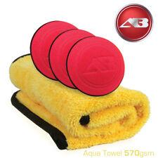 Aqua Deluxe Microfibre Drying Towel & 3 Car Detailing Wax Applicators Autobright