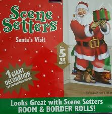 L@@K GIANT CHRISTMAS SANTA'S VISIT SCENE SETTERS OVER 5 FT HIGH INDOOR/OUTDOOR