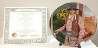 """John Wayne Long Arm of the Law Collector Plate Franklin Mint 8 1/4"""" Vintage"""