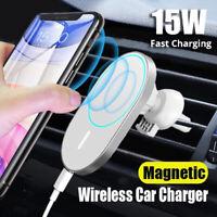 15W Mag Safe Auto Vent Mount magnetische drahtlose Ladegerät iPhone12 Pro Mini ㊖