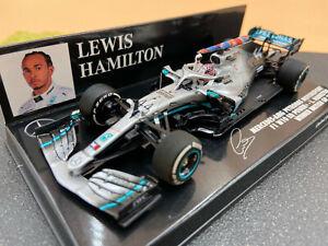 1/43 Mercedes F1 #44 Lewis Hamilton Sieg Großbritannien'19 MINICHAMPS 417191044