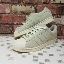 Adidas Womens Superstar trainers size 5 suede cream originals sneakers shoes 38