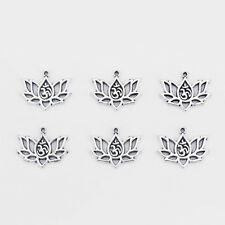 20pcs Lotus Flowers inlay OM OHM YOGA Symbol Charms Pendant Jewelry Findings