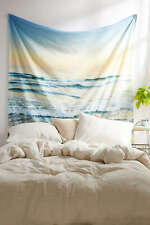 RARE Ocean Beach Summer Sunset Wall Tapestry Urban Outfitters Bohemian OOP