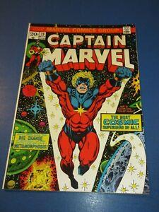 Captain Marvel #29 Bronze age Jim Starlin Avengers Fine/Fine+ Beauty Wow