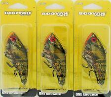 (3) Booyah Bait Company 3/4 Oz One Knocker Crankbaits Ghost Grn Craw BYHKK3402