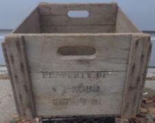 RP2268 Vtg W.J. Buchanan Clarksburg ON Orchard Wooden Apple Box Crate Storage