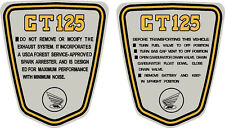 "Honda CT70 K3 1974, Custom 125 Side Badges, Graphics, Stickers ""Trail 125"""