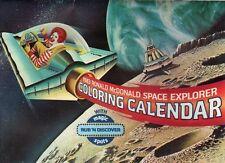 1983 Ronald McDonald Space Explorer Coloring Calendar/Magic Rub'N Discover Spots