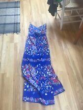Yumi Kim Maxi Dress size medium blue floral