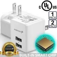Fosmon Fast Quick USB Wall Charger Foldable Plug for iPhone Samsung Android LG