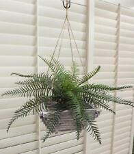 *1 SWORD FERN BUSH LARGE *Artificial Plant * PLASTIC  New *BASKET NOT INCLUDED