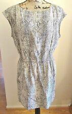 Zara Woman Women's Snake Print Dress, Sleeveless, Elastic Waist, Pockets, Size M