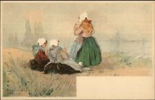 Holland Native Dutch People H. Cassiers c1900 Postcard SCHEVENINGEN