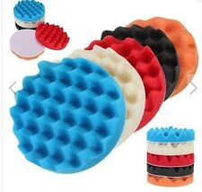 5pcs 6 Inch Waffle Polishing Foam Buffing Pad Set for Car Polishser