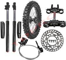 "14"" Front Wheel Rim 60/100-14 Tyre + Front Forks Triple Tree Dirt Bike 125 110cc"