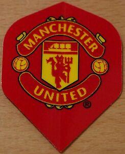 """1 Set (1X3) Official """"Manchester United Football Club"""" Standard Dart Flights"""
