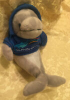 Dolphin Plush Stuffed Animal The Petting Zoo Blue Quest Hoodie Soft Toy