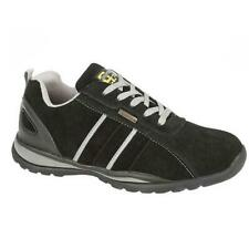 Grafters Mens Safety Shoe Steel Toe Cap Suede Work Trainer Black