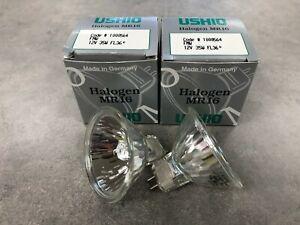 Ushio FMW 12V 35W FL36 MR16 Halogen Lamps 2-PACK