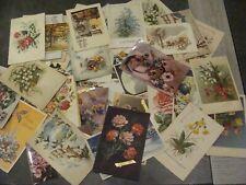 Lot de 45 CPA Fantaisies - Fleurs et autres - 33 timbrées - Majorité de Belgique