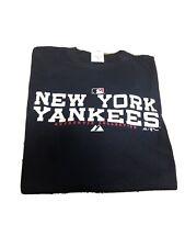 Men's MLB Majestic Authentic NY NEW YORK Yankees SHORT SLEEVE NAVY Tshirt LARGE